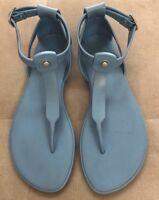 Hunter Boots Original T-Bar Sandal Blue NEW Size 6 Or 37