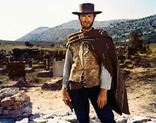 Clint Eastwood The Good, Bad And Ugly 16x20 Canvas Iconic Pose In Poncho Cigar
