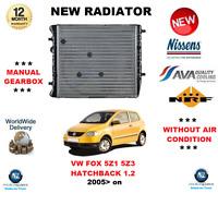 Para VW Fox 5Z1 5Z3 Hatchback 1.2 2005> Nuevo Radiador Del Motor Calidad OE