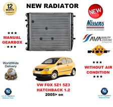 Para Vw Fox 5Z1 5Z3 Hatchback 1.2 2005 > Nuevo Motor Radiador ** Calidad OE **