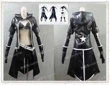 VOCALOID-Miku Black Rock Shooter Black Golden Saw cosplay costume
