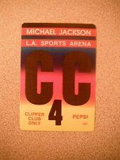 Rare Michael Jackson LA Sports Arena CC Pepsi Tour Backstage Concert Pass