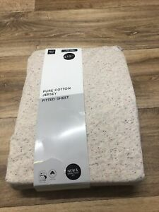 Marks And Spencer Pure Cotton Jersey Deep Fitted Sheet King Size New