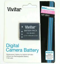 Vivitar SONY B54 Digital Camera Battery Pack  NP-BN1 VIV-SB-BN1 NEW 1100mAh