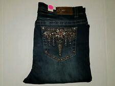 Grace in LA Women's Embellished P-Straight Jeans, Size 17 (1K)