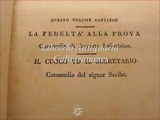 TEATRO: Florilegio Drammatico XIX Roma 1831 Lafontaine Scribe CUOCO E SEGRETARIO