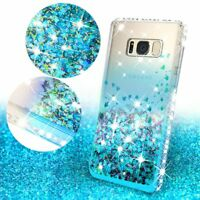 For Samsung Galaxy Note 5 Case Glitter Shockproof Liquid Bling Tempered Glass