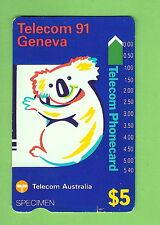 #D200.  SPECIMEN GENEVA KOALA TELECOM PHONECARD