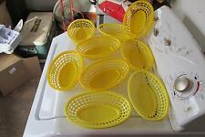 3 Yellow Tablecraft Shrimp Baskets And 6 Royal Shrip Baskets
