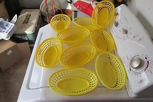 3 Yellow Tablecraft Shrimp Baskets And 6 Royal Shrip Baskets