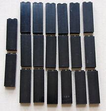LEGO BULK LOT OF 20 BLACK 1 X 2 X 5 BRICKS BLOCKS PILLAR COLUMNS PIECES
