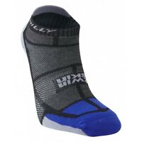 Hilly Twin Skin Socklet Socks Anti Blister Running And Sports - Black/Grey/Blue