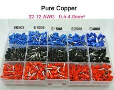 1065Pcs Insulated Cord End Terminal Bootlace Cooper Ferrules Kit Set Wire Copper