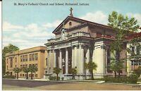 Richmond, INDIANA - St. Mary's Catholic Church & School -1946