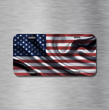 AMERICAN USA United States Flag Vehicle License Plate, Front Auto Tag NEW U.S.A.