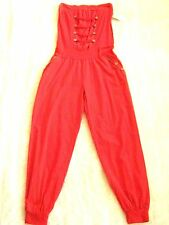 Made in Italy Soft stretchy cotton Red Jumpsuit All in One Beach yoga trousers M