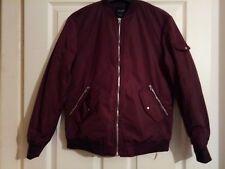 New Zara Women's Bomber/Punk/Skinhead Jacket Red Wine Colour Size XS