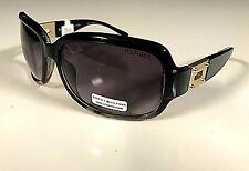 New TOMMY HILFIGER Womens Square Sunglasses OL70 Fashion Eyeglass Black/Gold