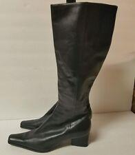 Enzo Angiolini Black Leather Boots Size 7.5 Medium