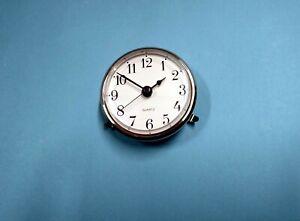 65mm SILVER BEZEL insertion clocks White Arabic dial