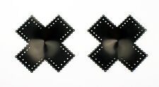 Nipple Pasties - Lace Cross Shaped - Material:Thick Latex - Handmade in the UK