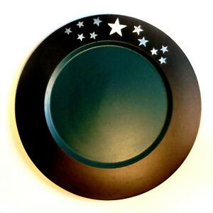 Set 10 Platzteller 28cm für Hochzeit Weihnachten schwarz grün Sterne Dekoteller
