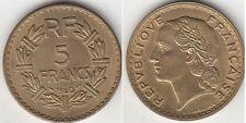 Monnaie 5 francs Lavrillier 1940