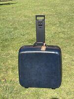 """Vintage Samsonite Luggage 24"""" Suitcase Navy Blue Hard Shell Style  (No Key)"""