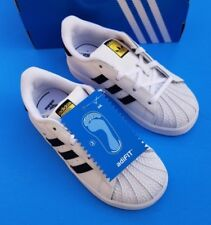 Adidas Superstar I 1 C77913 White Black Toddler Girls Boys Size 10 10k Shelltoes