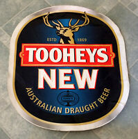 Rare Large Vintage Original Tooheys New Draught Beer Logo Sticker Decal
