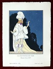 Gazette du Bon Ton Print Pochoir ~ February 1913 No 4 ~ Danseur Louis XIV Marty