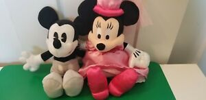 DISNEY PARKS AUTHENTIC ORIGINAL MICKEY MOUSE and MINNIE MOUSE PLUSH