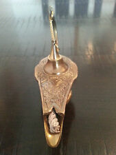 ALADIN GENIE OIL BRASS LAMP-ALADDIN LAMP-BRONZE COLOR