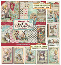Stamperia Alice 12 x 12 Paper Pack  Alice in Wonderland Scrapbook Papers