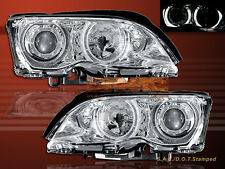 2002-2005 BMW E46 3-SERIES 4DR SEDAN DUAL HALO PROJECTOR CLEAR HEADLIGHTS