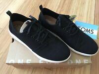 Toms | Del Rey Black Linen | Mens Shoe | Size UK 6/7/7.5/8/8.5/9/9.5/10/10.5