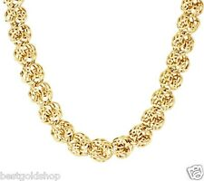 "36.5gr 20"" Bold Love Knot Ropa Chain Necklace Real 14K Yellow Gold QVC J295403"