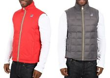 K-WAY Yannick Thermo Plus Double Reversible Down Puffer Jacket Vest $159 NEW L