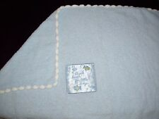 Carters Just One Year Thank Heaven for Boys Blue Satin Chenille Baby Blanket