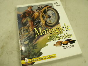 Motorcycle collectors guide to memorabilia, toys, banners, signs, clothing, etc.