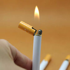 Novelty Windproof Jet Flame Cigarette Shaped Refillable Butane Gas Cigar LighteA