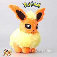 """Pokemon Flareon Plush Fire Eevee Pyroli Soft Toy Stuffed Cuddly Teddy Doll 7"""""""