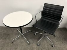 Original VITRA Eames EA 117 Alu Chair Bürostuhl Drehstuhl Stuhl (schwarz) Leder
