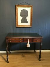 More details for an  unusual quality georgian period writing/side table in mahogany circa 1820