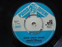 Orig Reggae Derrick Morgan Pama Supreme 45 John crow Skank 1971 EX