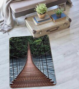 3D Red Bridge ZHUA1714 Game Non Slip Rug Mat Photo Carpet Zoe