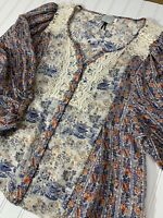HD In Paris Anthropologie Womens Blouse Shirt Size 6