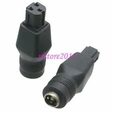 2pcs Adapter Connector DC Power 2.1x5.5mm Female to 3 Pin Male for DELL Laptop