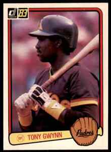 1983 Donruss Tony Gwynn RC #598 HOF PADRES MINT (Centered)