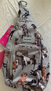 Vera Bradley Best In Show Puppy Dog Print ReActive Mini Sling Backpack New
